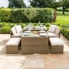 Maze Rattan Garden Furniture Lyon Tuscany Sofa Dining Set