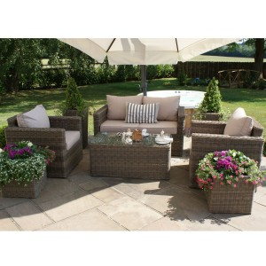 Maze Rattan Garden Furniture Winchester Square Sofa Set