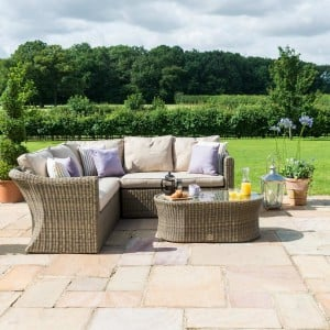 Maze Rattan Garden Furniture Winchester Small Corner Group with Chair
