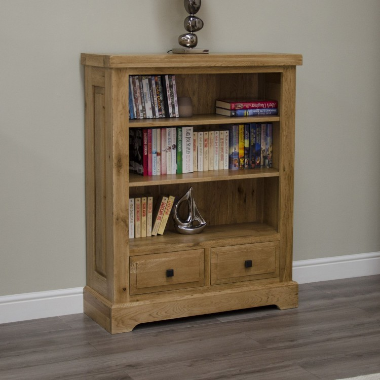 Deluxe Solid Oak Furniture Small Bookcase