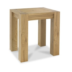 Bentley Designs Turin Oiled Oak Furniture Lamp Table