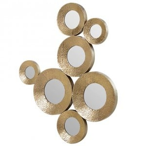 Clearance Coach House Gold Circles Mirrored Wall Decoration