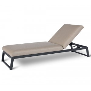Maze Lounge Outdoor Fabric Allure Sunlounger in Taupe