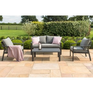 Maze Rattan Garden Furniture Verona Grey 2 Seater Sofa Set
