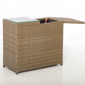 Maze Rattan Garden Furniture Tuscany Ice Bucket Side Table