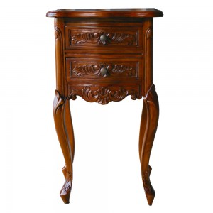 French Mahogany Furniture Nightstand Table