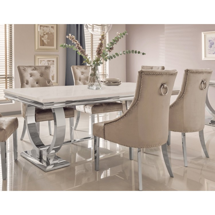 Vida Living Arianna Marble and Chrome Dining Range