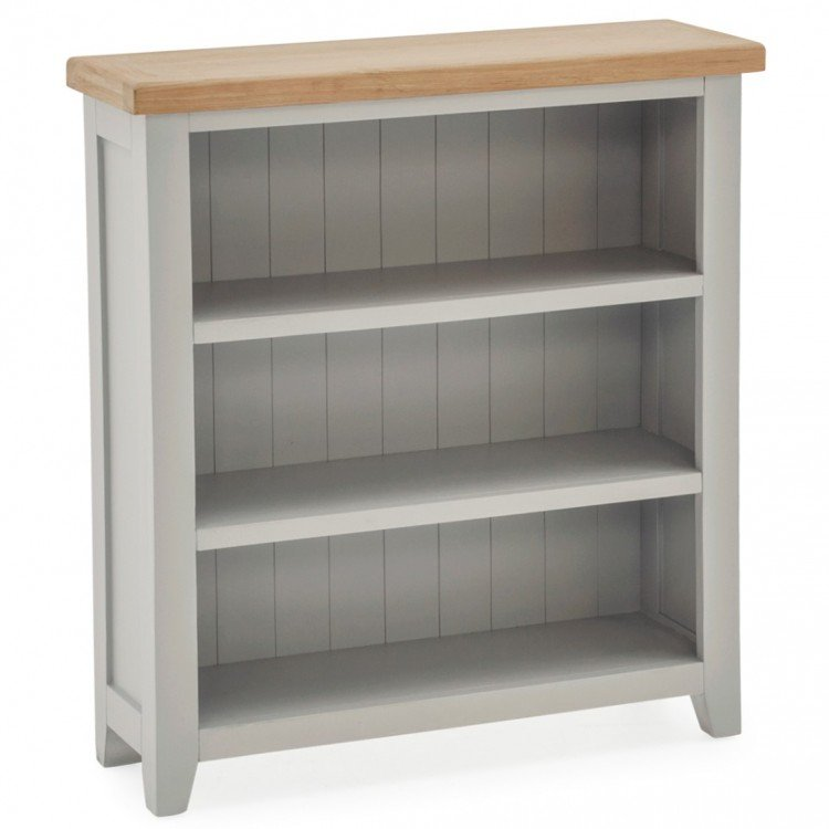 Vida Living Ferndale Grey Painted Furniture Low Bookcase