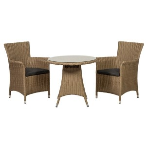 Royalcraft Garden Furniture Bali Rattan Bistro 2 Seater Set