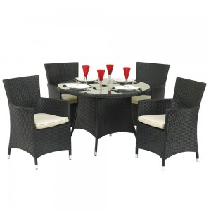 Royalcraft Garden Furniture Cannes Ebony Black 4 Seat Dining Set