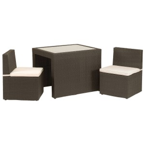 Royalcraft Garden Furniture Cannes Mocha Brown Breakfast Set