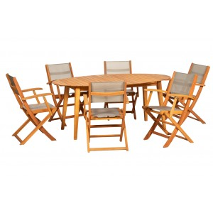 Royalcraft Garden Furniture Chelsea Wooden 6 Seater Dining Set