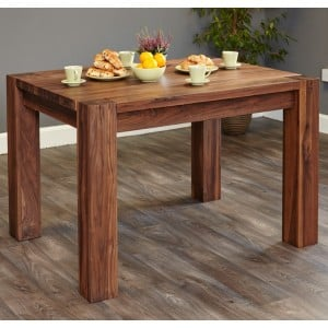Shiro Walnut Furniture 4 Seater Dining Table