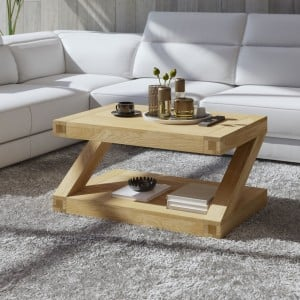 Z Solid Oak Furniture 3ft x 2ft Coffee Table