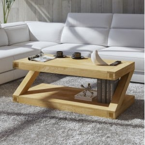 Clearance Z Solid Oak Furniture 4ft x 2ft Coffee Table
