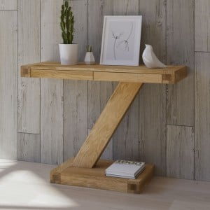 Z Solid Oak Furniture Modern Console Unit - PRE-ORDER