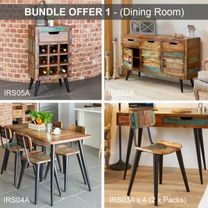 Coastal Chic Reclaimed Wood Furniture Dining Room Package