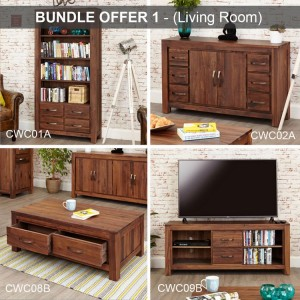 Mayan Walnut Furniture Living Room Package