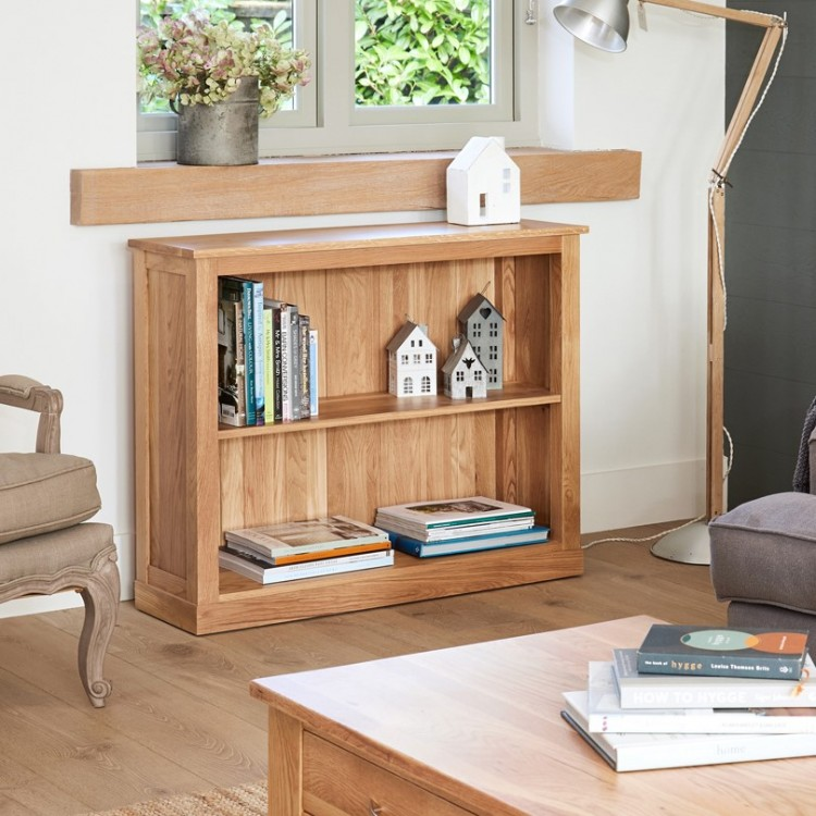 Mobel Oak Furniture Low Bookcase