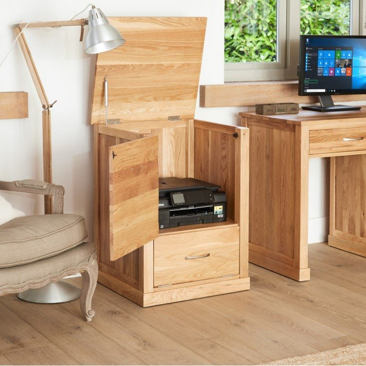 Mobel Oak Furniture Printer Cupboard