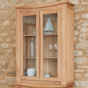 Roscoe Contemporary Oak Furniture Glazed Display Top Only