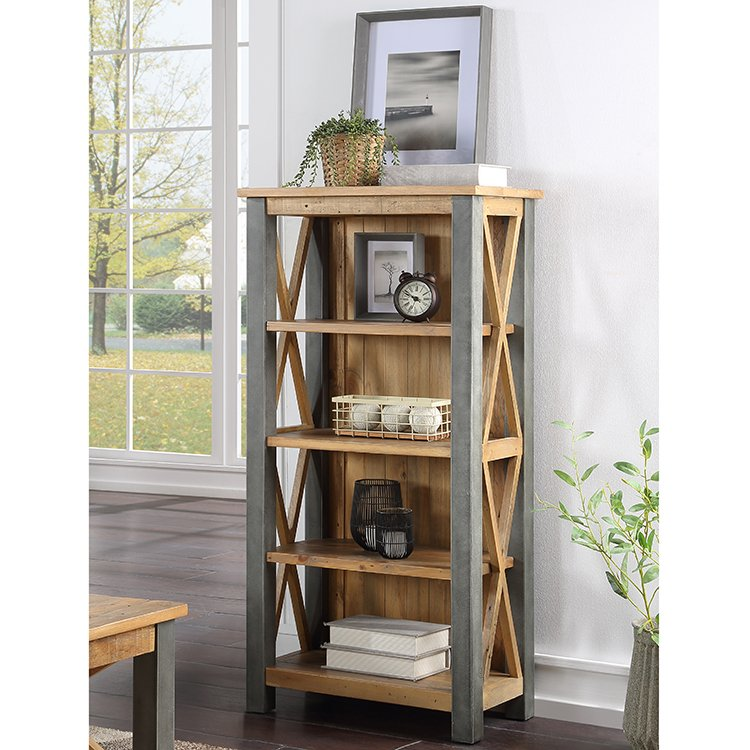 Urban Elegance Reclaimed Wood Furniture Small Bookcase