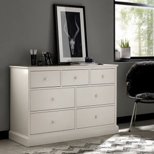 Ashby White Painted Furniture 3 Over 4 Chest of Drawers