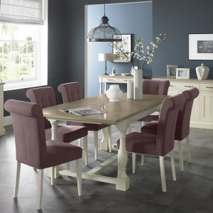 Bentley Designs Chartreuse White Dining Table & MulberryChair Set