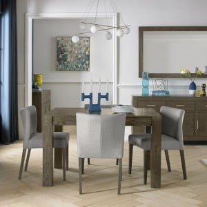 Bentley Designs Turin Dark Oak Extending Dining Table & Chairs Set