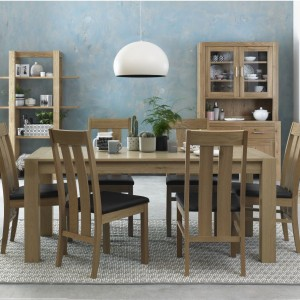 Bentley Designs Turin Light Oak 6 Seater Dining Table & Chair Set