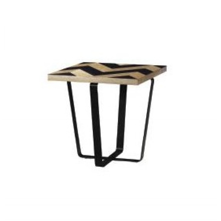 Besp-Oak Contemporary Sofas Harlow Black Wave Collection End Table