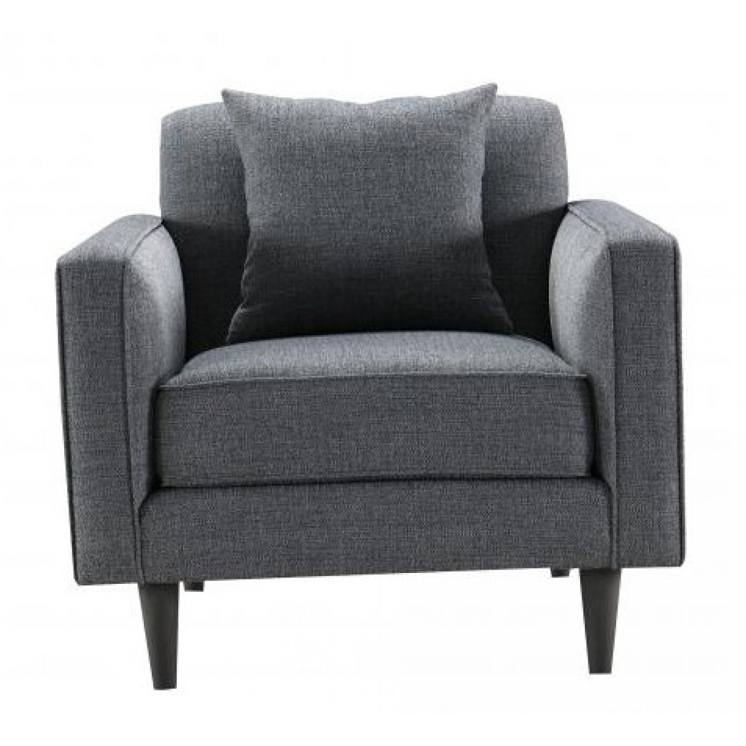Besp Oak Contemporary Sofas Grey Ribbed Armchair Seater