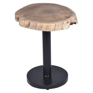 Arkwright Industrial Furniture Rustic Stump Style Side Table
