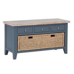Chalked Oak and Down Pipe Living Room Furniture Shoe Rack