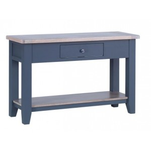 Chalked Oak and Down Pipe Dining Room Furniture Wide Console Table