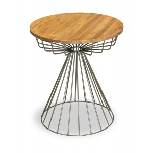 Robin Industrial Living Room Furniture Round Side Table