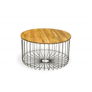 Robin Industrial Living Room Furniture Round Coffee Table