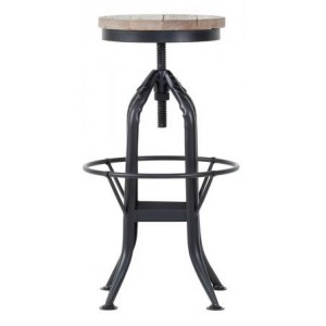 Cal Stadium Furniture Wood & Metal Adjustable Height Stool