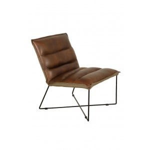 Additions Oak Furniture Franco Brown Aniline Leather Easy Chair