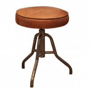 Additions Furniture Oakley Brown Aniline Leather Stool