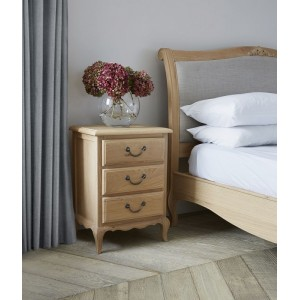 Corndell Cheltenham Furniture Oak 3 Drawer Bedside Cabinet