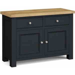 Corndell Daylesford Oak and Charcoal Painted 2 Door 2 Drawer Small Sideboard