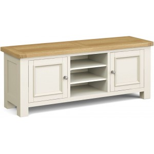 Corndell Daylesford Oak and Ivory Painted 2 Door TV Unit