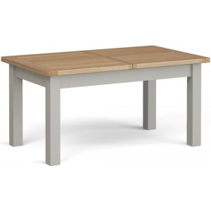 Corndell Daylesford Oak and Pebble Grey Painted Extending Dining Table 1600mm