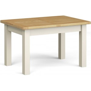 Corndell Daylesford Oak and Ivory Painted Extending Dining Table 1300mm