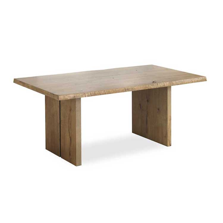 Corndell Oak Mill Waxed 180cm Dining Table With Wooden Legs