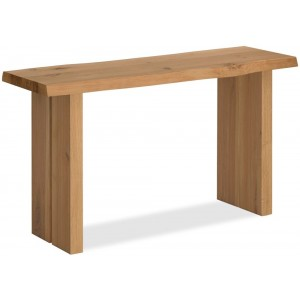 Corndell Oak Mill Waxed Console Table With Wooden Legs