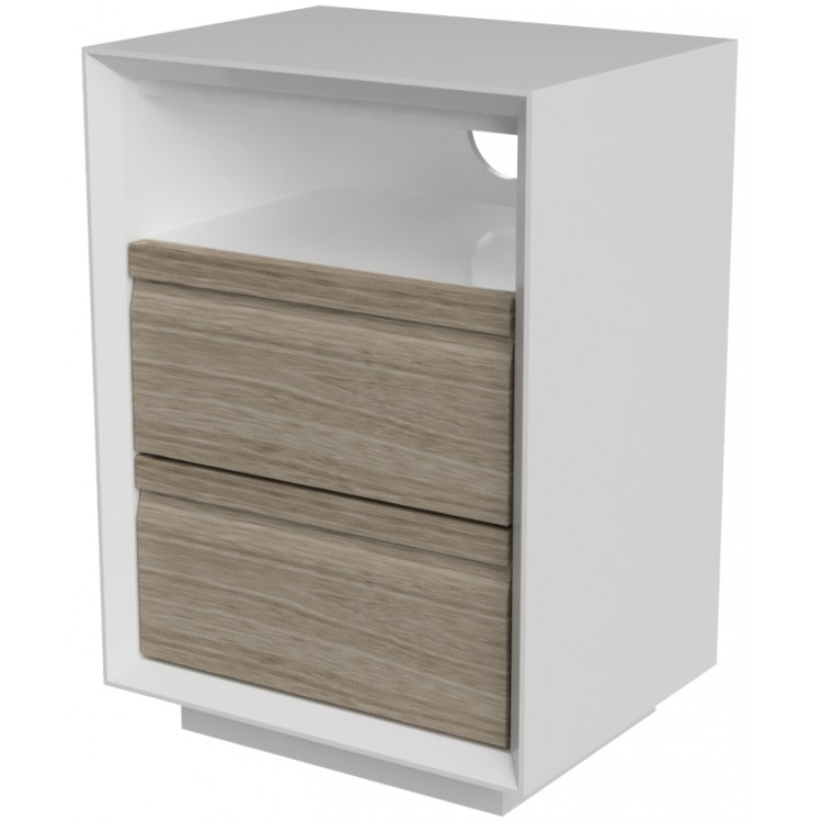 Corton Light Grey Painted Furniture 2 Drawer Bedside Cabinet