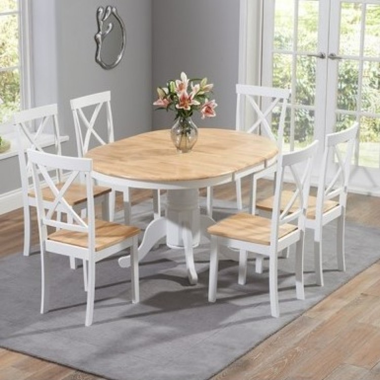 Oval & Round Painted Dining Sets