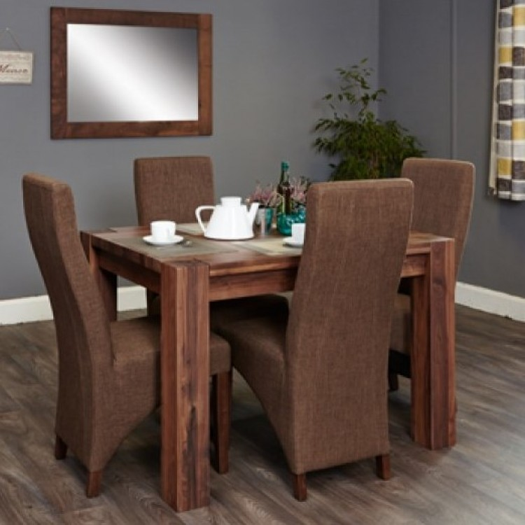 Small Dark Wood Dining Sets
